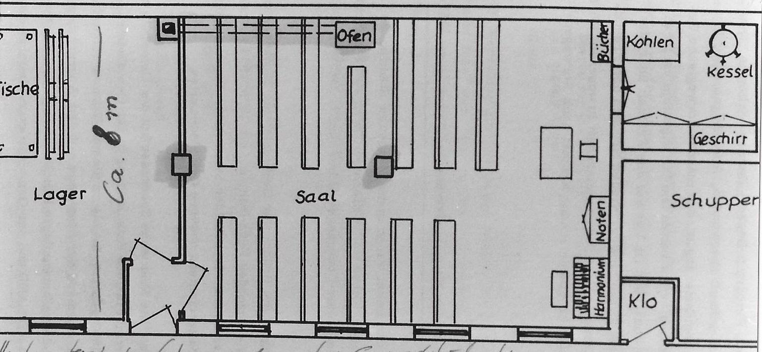 banner Grundriss Gemeindehaus 1895-1952